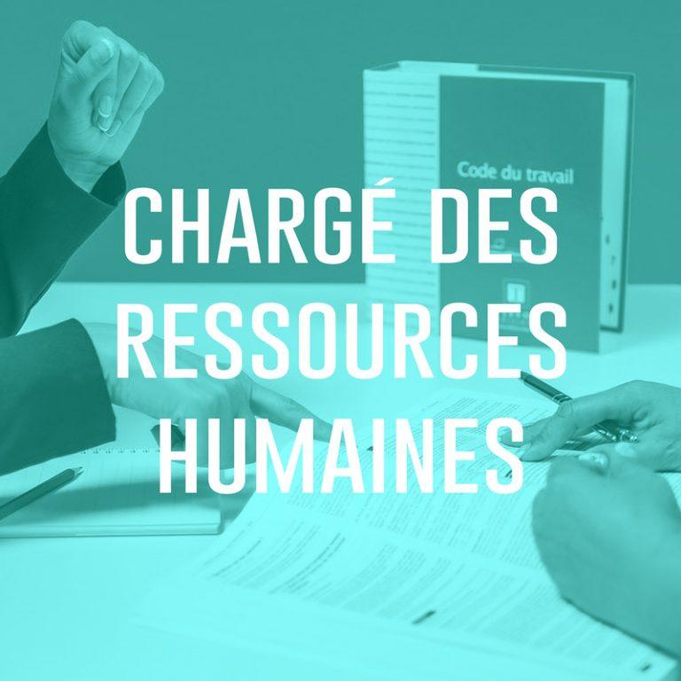 Chargé des ressources humaines (H/F)